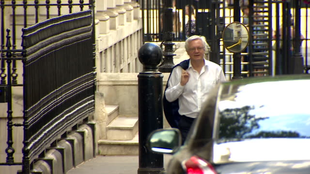 david davis entering a car outside downing street - governmental occupation stock videos & royalty-free footage
