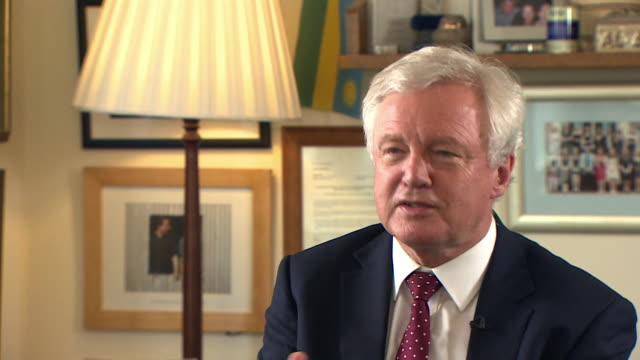 david davis saying he didn't believe in the government's proposed deal for brexit and felt he had to resign because of his lack of belief - バッキンガムシャー点の映像素材/bロール