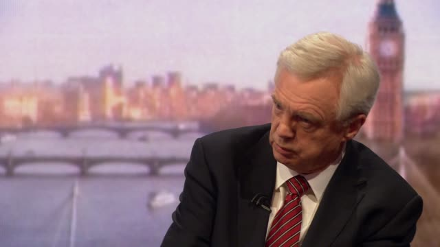 stockvideo's en b-roll-footage met david davis saying he has been trying throughout the whole brexit process to get theresa may to make it rescuable - andrew marr