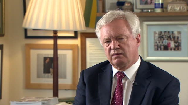 """david davis saying he hopes """"theresa may is right and i'm wrong"""" over the new proposed brexit deal, and that he worries the uk is giving away too... - david m. davis politician stock videos & royalty-free footage"""