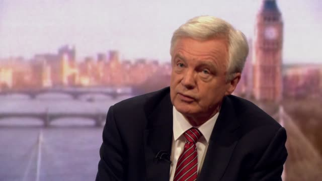 stockvideo's en b-roll-footage met david davis saying the uk has given away its ability to take brexit negotiations down to the wire - andrew marr