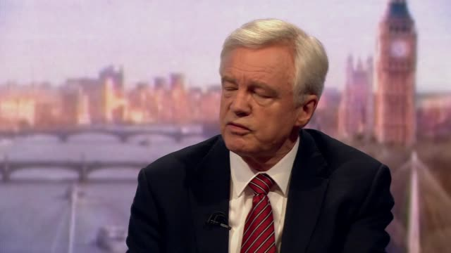 stockvideo's en b-roll-footage met david davis saying there needs to be focus on delivering brexit which means leaving the customs union and the single market - andrew marr