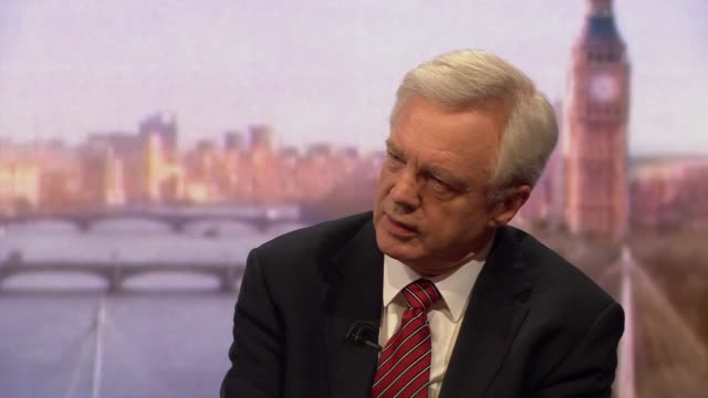 stockvideo's en b-roll-footage met david davis saying theresa may needs to negotiate a clear ability to leave the european union when we need to - andrew marr