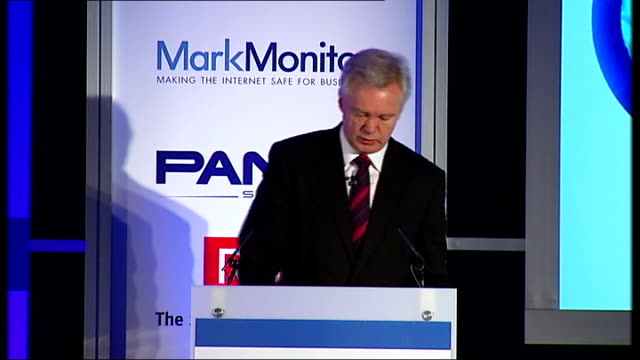 david davis speech on tackling cyber-crime; davis speech sot - cyber-crime and cyber-terrorism are two sides of same coin, using same methods /... - co ordination stock videos & royalty-free footage