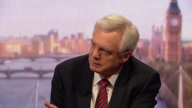 stockvideo's en b-roll-footage met david davis standing by his comments that the northern ireland backstop is not legally binding - andrew marr