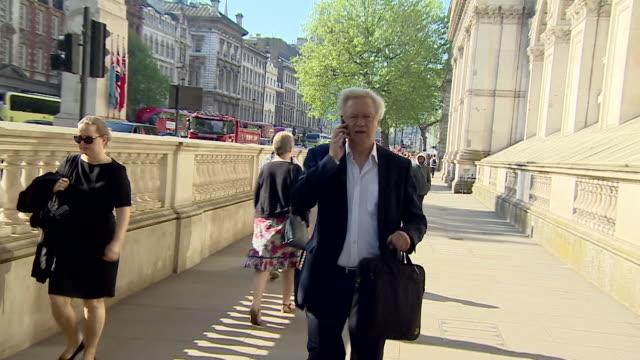 david davis walking into downing street - david m. davis politician stock videos & royalty-free footage