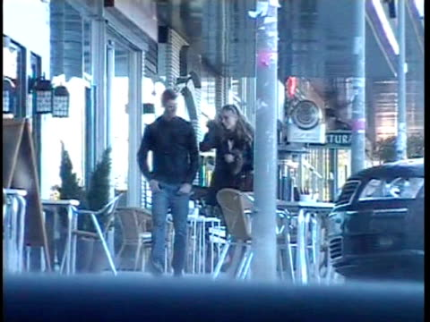 david de gea and his girlfriend the singer edurne are seen sighting europa press news capsules on june 28 2011 in madrid spain - セレブリティの日常シーン点の映像素材/bロール