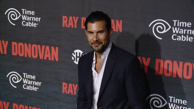 david desantos at showtime and time warner cable celebrate season two of ray donovan in los angeles ca - showtime video stock e b–roll