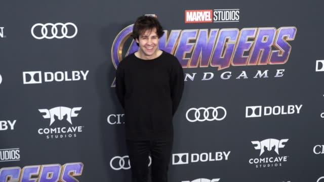 David Dobrik at the World Premiere of Marvel Studios' 'Avengers Endgame' at Los Angeles Convention Center on April 22 2019 in Los Angeles California