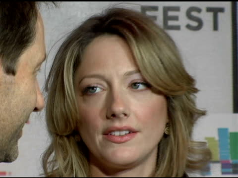 david duchovny and judy greer at the 2006 tribeca film festival 'the tv set' premiere at tribeca performing arts center in new york new york on april... - performing arts center stock videos & royalty-free footage