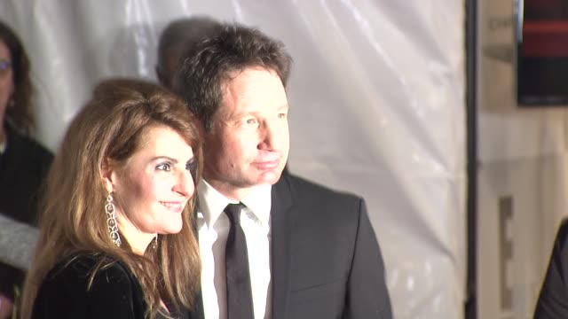 david duchovny and nia vardalos at the universal nbc focus features and e entertainment after party sponsored by chrysler and hilton on january 11... - nia vardalos stock videos and b-roll footage