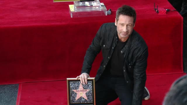 David Duchovny at David Duchovny Honored With Star On The Hollywood Walk Of Fame at Hollywood Walk Of Fame on January 25 2016 in Hollywood California