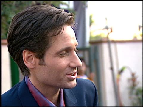 vidéos et rushes de david duchovny at the 1996 mtv movie awards at disney studios in burbank, california on june 8, 1996. - 1996