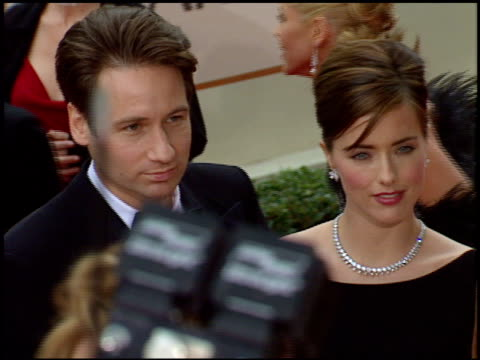 david duchovny at the 1998 golden globe awards at the beverly hilton in beverly hills california on january 18 1998 - 1998 stock videos & royalty-free footage