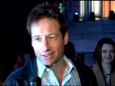 David Duchovny at the 2006 Tribeca Film Festival Vanity Fair Party at State Supreme Courthouse in New York New York on April 26 2006
