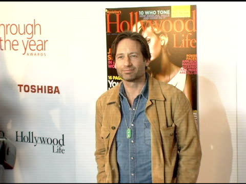vidéos et rushes de david duchovny at the hollywood life magazine's breakthrough of the year awards at the henry fonda theatre in hollywood, california on december 4,... - henry fonda theatre