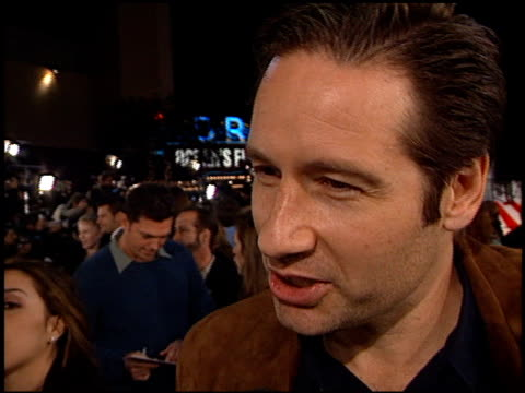 david duchovny at the 'oceans 11' premiere at the mann village theatre in westwood california on november 5 2001 - regency village theater stock-videos und b-roll-filmmaterial