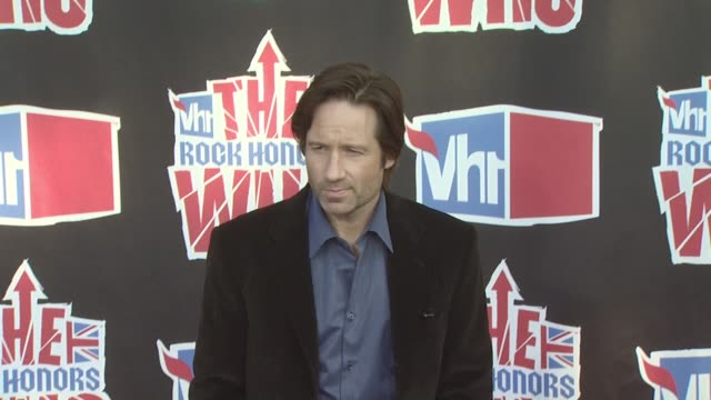 david duchovny at the vh1 rock honors at los angeles ca - vh1 stock videos & royalty-free footage