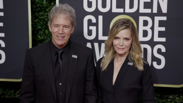 David E Kelley and Michelle Pfeiffer at the 75th Annual Golden Globe Awards at The Beverly Hilton Hotel on January 07 2018 in Beverly Hills California