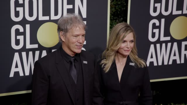 david e kelley and michelle pfeiffer at the 75th annual golden globe awards at the beverly hilton hotel on january 07 2018 in beverly hills california - michelle pfeiffer stock videos & royalty-free footage