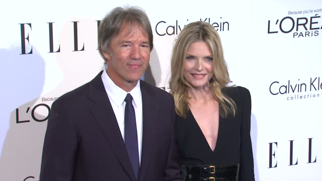 david e kelley michelle pfeiffer at the elle's 18th annual women in hollywood tribute at beverly hills ca - michelle pfeiffer stock videos & royalty-free footage