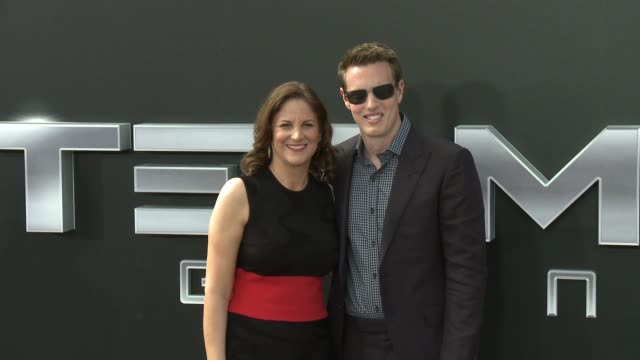 "david ellison and dana goldberg at the premiere of paramount pictures' ""terminator genisys"" at dolby theatre on june 28, 2015 in hollywood,... - the dolby theatre stock videos & royalty-free footage"