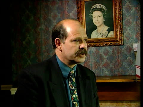 david ervine interview sot - paramilitary leaders are populist / people prefer summary justice weapons siezed from hq of the progressive unionist... - ポピュリズム点の映像素材/bロール