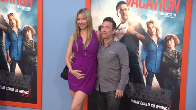 david faustino at the vacation los angeles premiere at regency village theatre on july 27 2015 in westwood california - regency village theater stock videos and b-roll footage