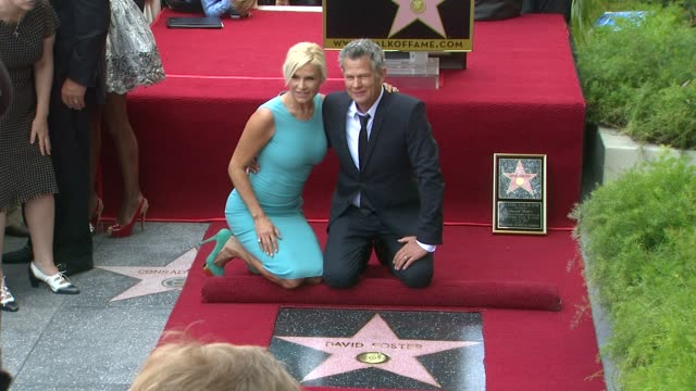 David Foster and Yolanda Hadid at David Foster Honored With Star On The Hollywood Walk Of Fame David Foster and Yolanda Hadid at David Foster To at...
