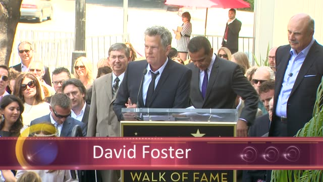 CHYRON David Foster Honored With Star On The Hollywood Walk Of Fame EVENT CAPSULE CHYRON David Foster Honored at Hollywood Walk Of Fame on May 31...