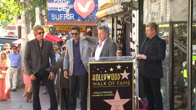 david foster on their wonderful families at rascal flatts honored with star on the hollywood walk of fame on 9/17/12 in hollywood ca - rascal flatts stock videos & royalty-free footage