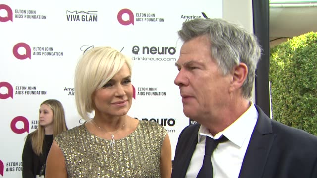 INTERVIEW David Foster Yolanda Foster at Elton John AIDS Foundation Presents 22nd Annual Academy Awards Viewing Party Sponsored By Chopard Neuro...