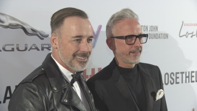 David Furnish and Patrick Cox at Attitude Awards at 8 Northumberland Avenue on October 10 2016 in London England