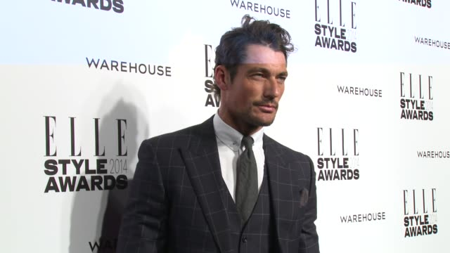david gandy at elle style awards arrivals at one embankment on february 18 2014 in london england - embankment stock videos and b-roll footage