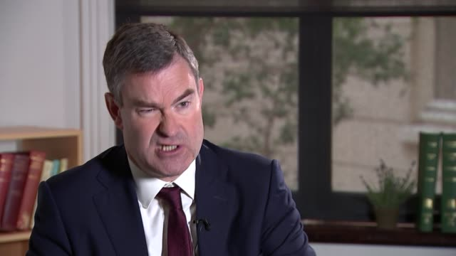 stockvideo's en b-roll-footage met london int david gauke mp interview sot on renationalisation of the probation service - probatie