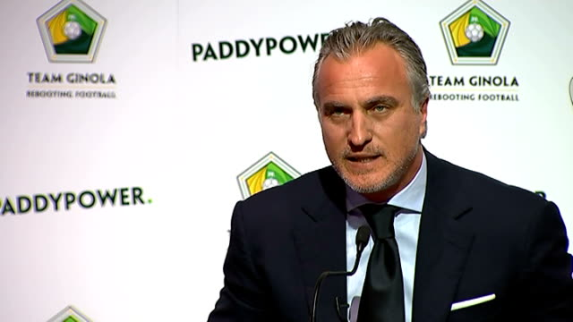 david ginola to stand for fifa presidency: press conference; q - how confident are you of getting five nominations? ginola answer sot - priority is... - the world's end stock videos & royalty-free footage
