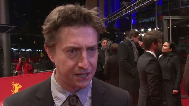 interview david gordon green on the goal of the film on the actors and on shooting outdoor at 'prince avalanche' premiere 63rd berlinale... - shooting at goal stock videos & royalty-free footage