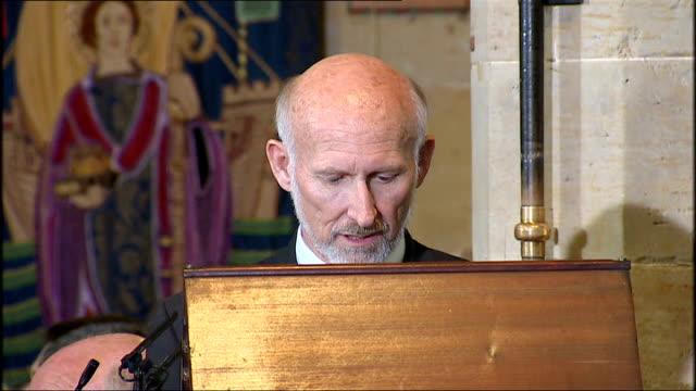 david gray speaking at pulpit sot - kanzel stock-videos und b-roll-filmmaterial