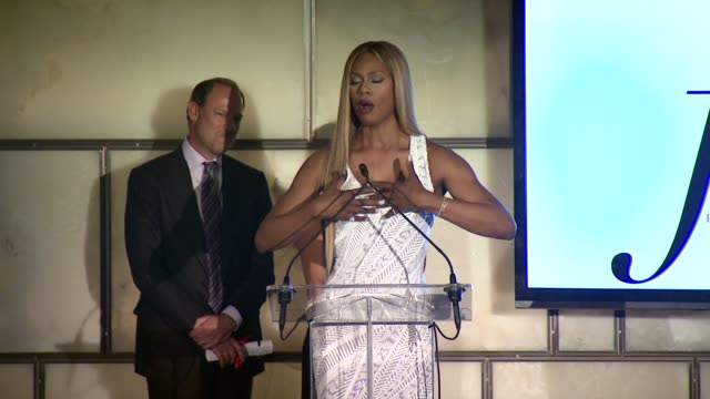 "SPEECH David Greenberg and Katie Couric present Laverne Cox with the Make It Happen Award Katie Couric discusses watching ""Orange is the New Black""..."