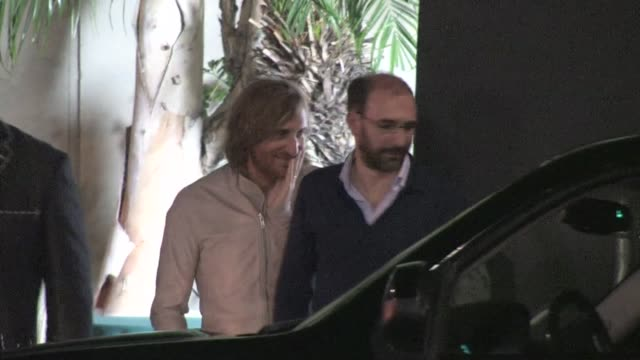 david guetta leaving the emi grammy after party in hollywood 02/12/12 - emi grammy party stock videos & royalty-free footage
