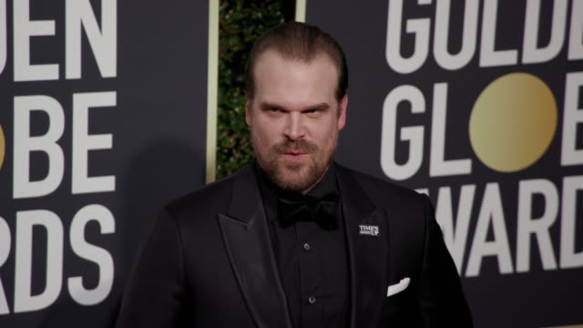 David Harbour at the 75th Annual Golden Globe Awards at The Beverly Hilton Hotel on January 07 2018 in Beverly Hills California