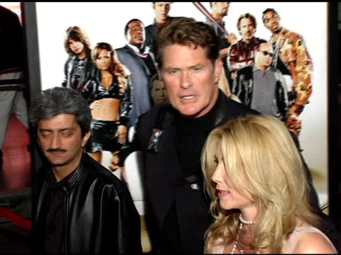 david hasselhoff and wife pamela bach at the 'be cool' los angeles premiere at grauman's chinese theatre in hollywood, california on february 14,... - pamela bach stock videos & royalty-free footage