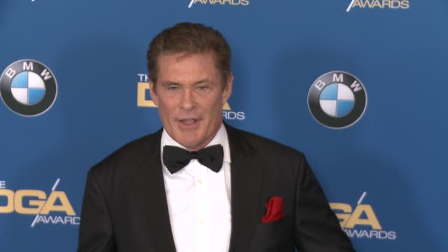 david hasselhoff at 69th annual directors guild of america awards in los angeles, ca 2/4/17 - director's guild of america stock videos & royalty-free footage