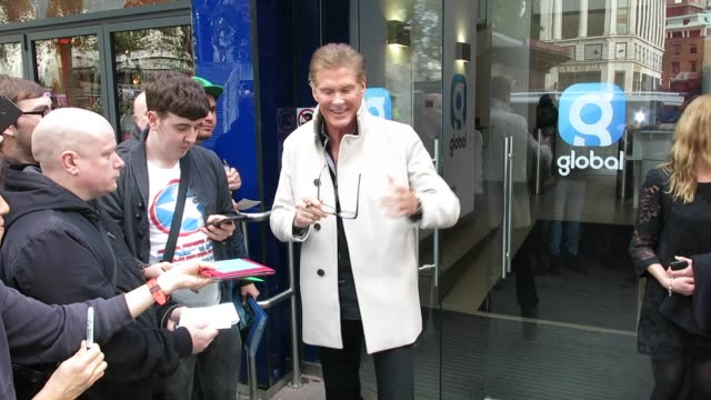 david hasselhoff at global radio studios at celebrity sightings on october 04, 2017 in london, england. - david hasselhoff stock videos & royalty-free footage