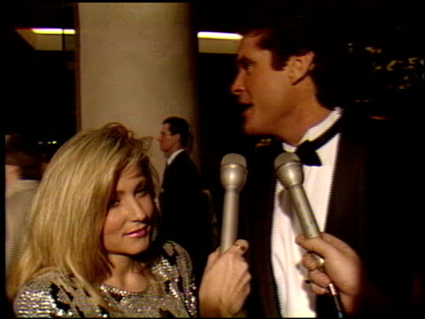 david hasselhoff at the 1990 golden globe awards at the beverly hilton in beverly hills, california on january 20, 1990. - david hasselhoff stock videos & royalty-free footage