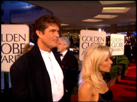 david hasselhoff at the 1995 golden globe awards at the beverly hilton in beverly hills, california on january 21, 1995. - david hasselhoff stock videos & royalty-free footage