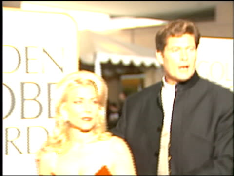 david hasselhoff at the 1996 golden globe awards at the beverly hilton in beverly hills, california on january 21, 1996. - david hasselhoff stock videos & royalty-free footage