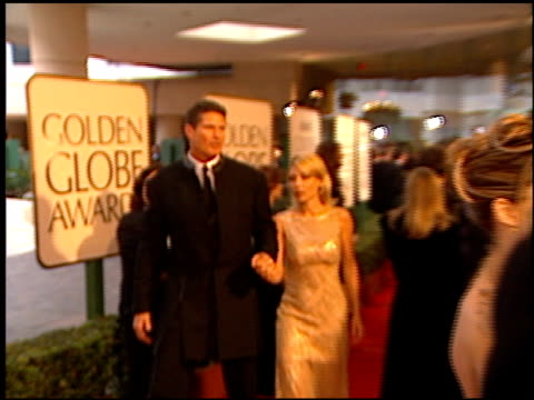 david hasselhoff at the 1998 golden globe awards at the beverly hilton in beverly hills, california on january 18, 1998. - david hasselhoff stock videos & royalty-free footage