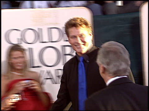david hasselhoff at the 2005 golden globe awards at the beverly hilton in beverly hills, california on january 16, 2005. - david hasselhoff stock videos & royalty-free footage