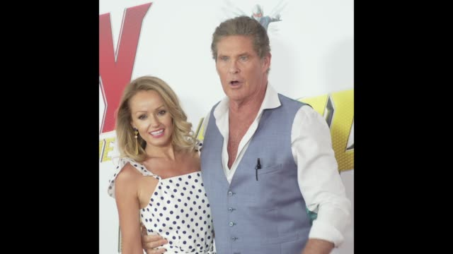 David Hasselhoff at the AntMan and the Wasp World Premiere
